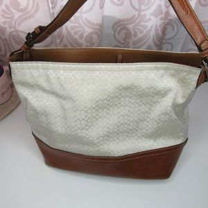 Beautiful white Coach Bucket bag